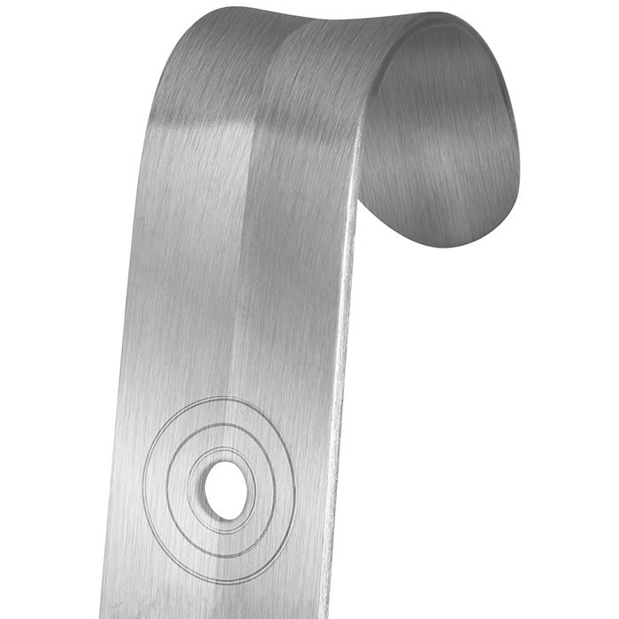 52cm Schuhanzieher Edelstahl Metall Extra Langer Aluminium Legierung Schuhl/öffel Solides Schuhanzieher mit Loop Design und H/ängendes Loch Silber