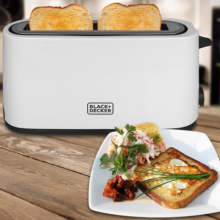 Black+Decker Toaster Langschlitz Langschlitztoaster Röster Toast Sandwich 1000 W