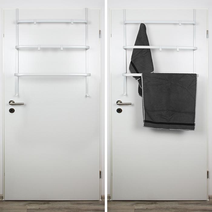 handtuchhalter t rregal t rhaken handtuchstange t r handtuch halter haken stange ebay. Black Bedroom Furniture Sets. Home Design Ideas
