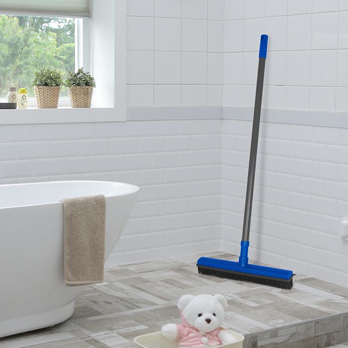 besen gummiborsten gummi abzieher friseurbesen wischer teleskopstiel noppenbesen ebay. Black Bedroom Furniture Sets. Home Design Ideas