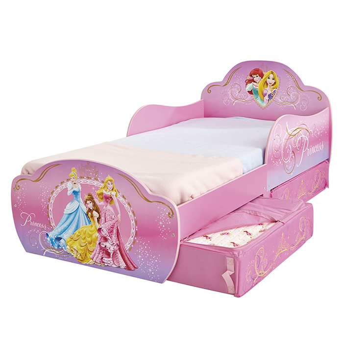 kinderbett schubladen disney princess 140x70cm. Black Bedroom Furniture Sets. Home Design Ideas